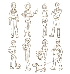 People Group Set vector image