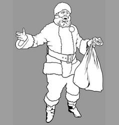 santa claus holding a sack vector image