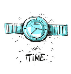 watch fashion sketch vector image vector image