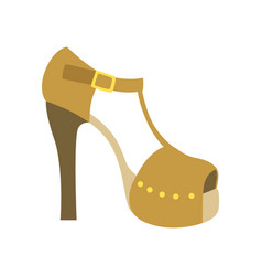 ankle strap shoe on a heel isolated footwear flat vector image vector image