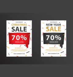 big discount coupon for the new year and christmas vector image vector image
