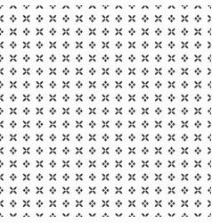 black dense flower and rhombus dots pattern vector image