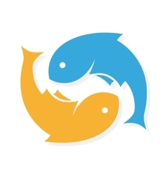Fish logo design template infinity vector image vector image