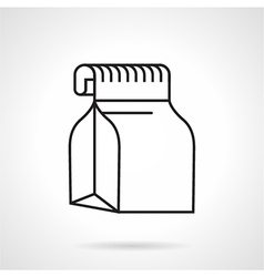 Food pack black line icon vector image