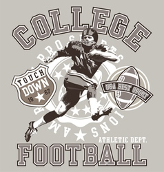 football college vector image