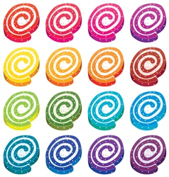 fruit jellies vector image vector image