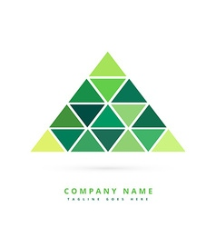 green triangle shapes forming pyramid vector image