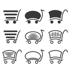 Icon set shopping vector image vector image