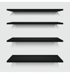 modern shelfs set on gray vector image