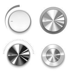 realistic volume knob technology control vector image