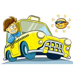 Taxi driver vector