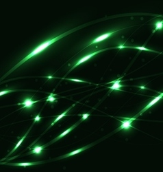Abstract green light glowing background vector image vector image