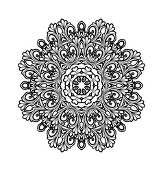 black and white decorative ornament vector image