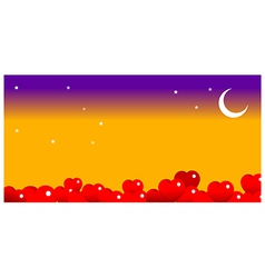 bright moon in the night sky vector image vector image