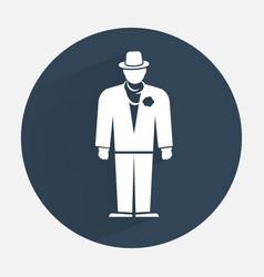Businessman icon Mafia gangster silhouette symbol vector image