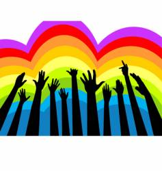 cheering crowd colorful vector image