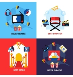 Cinema design concept set vector