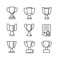 flat award icons vector image vector image