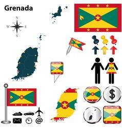 Grenada map vector image vector image