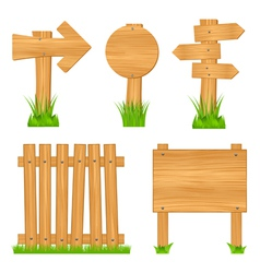 wooden objects vector image