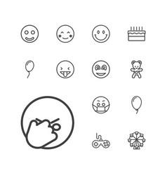 13 joy icons vector