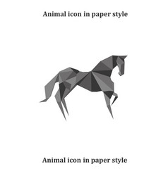 a horse in paper style vector image