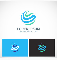 abstract loop circle round logo vector image
