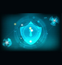 abstract network security technology background vector image