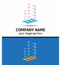 Abstract office building logo real estate icon vector
