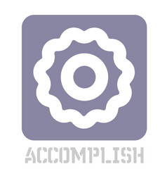 Accomplish conceptual graphic icon vector