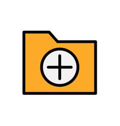 add folder flat icon vector image