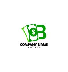 b logo money flat logo template vector image