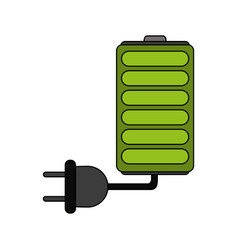 Battery and plug vector