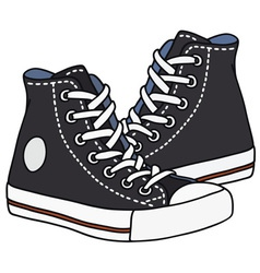 Black sneakers vector