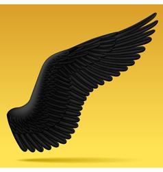 Black wing vector