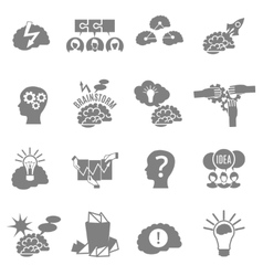 Brainstorm Flat Icons Set vector
