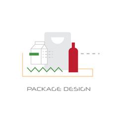 branding trademark new creativity package design vector image