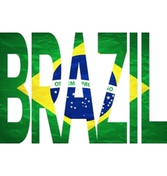 Brasil 2014 Letters with Brazilian Flag vector