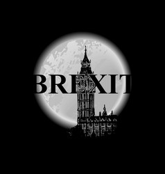 brexit poster uk leaving eu crisis in relations vector image