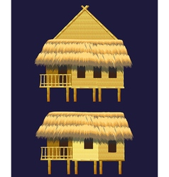 Bungalows mini set vector