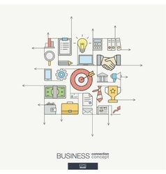 Business integrated thin line symbols Modern vector image