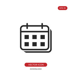 calendar icon date sign vector image