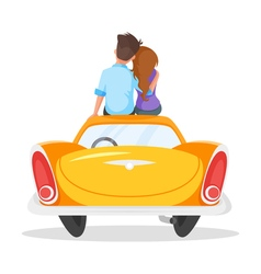 cartoon style of loving couple sitting on the vector image