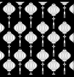 chinese lantern pattern beautiful decoration vector image