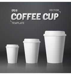 Coffee Cup Set Photorealistic 3D vector image vector image