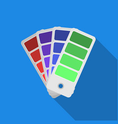 Color swatches icon in flate style isolated on vector