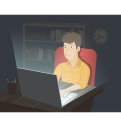 Computer internet addiction vector