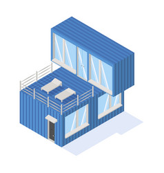 containers house isometric icon vector image