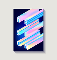 Creative design poster with gradient word vector
