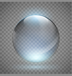 Crystal or glass empty ball vector